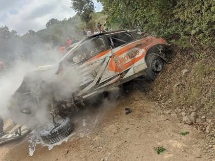 Sardīnijas WRC uzvar Ožjē, igauņu pilotam smaga avārija (FOTO)