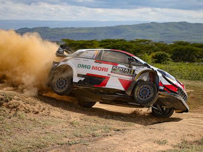 Kenijas WRC treniņos ātrākais Ožjē (VIDEO)
