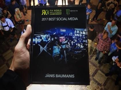 Jānis Baumanis uzvar nominācijā 'Labākās aktivitātes sociālajos medijos Pasaules RX'