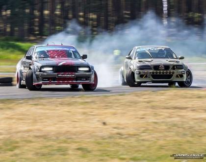 Ar agresīvām cīņām noslēdzies Latvijas drifta sezonas otrais posms
