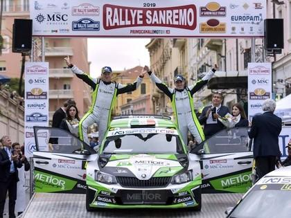 Bijušais WRC braucējs Brīns izrauj fantastisku uzvaru Sanremo rallijā