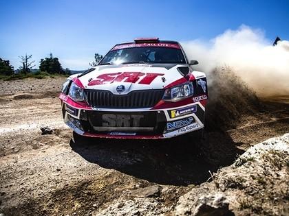 Grjazina ekipāža Sardīnijas WRC testos noskrien no ceļa un piedzīvo izbīli