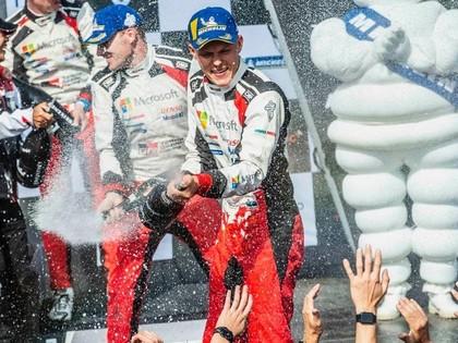 Igaunija līksmo - Tanakam Somijā trešā uzvara četros pasaules rallija čempionāta posmos