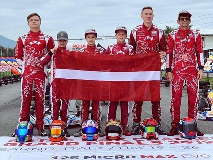 Seši latvieši pārstāvēs Latviju prestižajās 'Rotax Max Challenge' sacensībās Itālijā