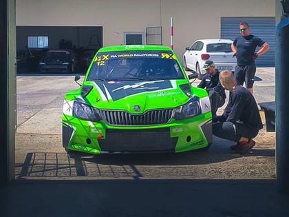 Jānis Baumanis aizvada testus ar ESmotorsport komandas Škoda Fabia (VIDEO)