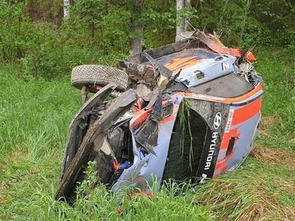 Noivilam smaga avārija testos Somijā
