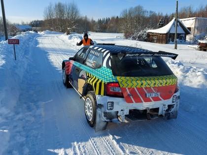Alūksnes pusē pasakainos ziemas apstākļos aizvadīti rallija testi