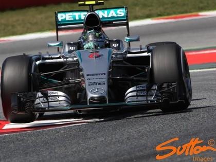Spānijas F-1 pirmo uzvaru šosezon izcīna Rosbergs