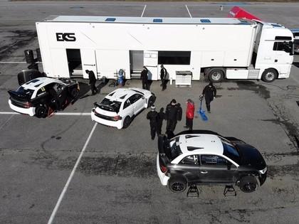 Bakeruds, Dorans un Žabo aizvada testus ar 'EKS Audi S1 quattro' automašīnām