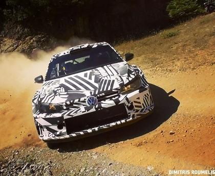 'VW Polo R5' aizvada testus Grieķijā (VIDEO)