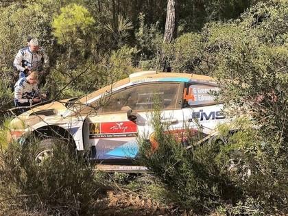 Turcijas WRC treniņos ātrākais Noivils, Grīnsmitam avārija