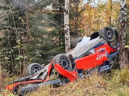 Solbergam avārija, Ožjē saņem sodu, Somijas WRC līderis Evans (VIDEO)