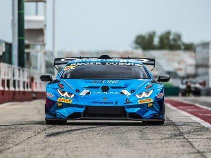 Šlēgelmilham 'Lamborghini Super Trofeo' sezonas ievadā divas otrās vietas ProAm klasē