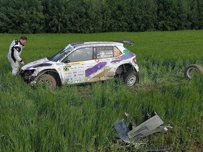 Volvers pēc 'Rally Estonia' avārijas iedzīvojies muguras savainojumā