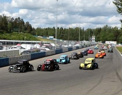 Latvijas 'Legend Cars' braucējiem labi rezultāti Ziemeļeiropas čempionāta 2. posmā