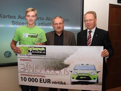 Noskaidrots 10 000 eiro lielās Okartes Autosporta Akadēmijas stipendijas ieguvējs