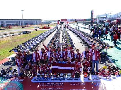 Latvijas jaunie kartingisti dodas uz Austriju