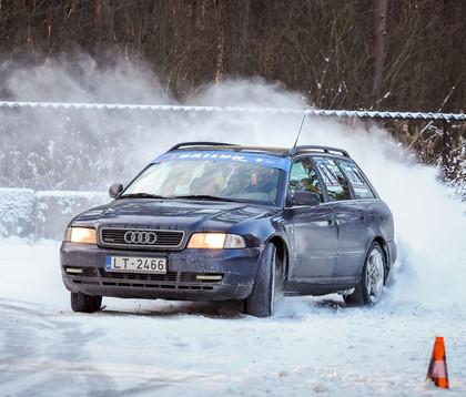 Rīgas Ziemas kausa 1. posmā triumfē Jānis Hāns ar 'Audi A4' (VIDEO)
