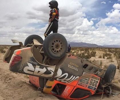 Dakaras rallija ceturtajā posmā WRC pilotam Prokopam kūlenis, Lēbs saglabā vadību