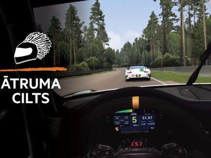 Ātruma Cilts video: Virtuālajā realitātē uzcelta Biķernieku trase