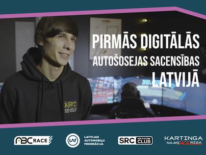 Autosportisti atzinīgi novērtē digitālo autosportu (VIDEO)