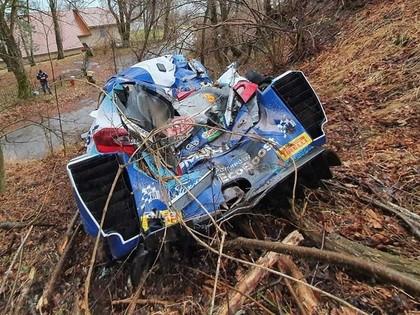 Tanaks kļūst par Montekarlo WRC rallija līderi, Suninenam avārija (VIDEO)